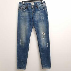 Vintage River Island Denim distressed Pants
